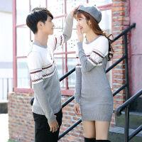 情侣装秋装2019韩版修身冬季中长款毛衣女套头线衣针织衫毛衫