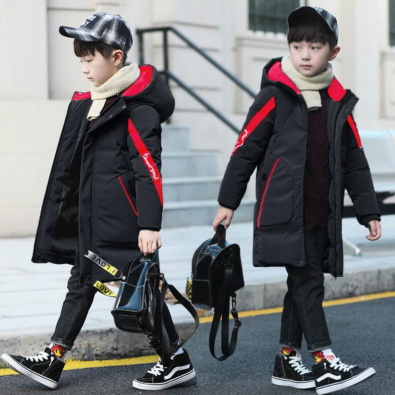 儿童棉衣冬季中长2018新款加厚棉袄休闲韩版男装