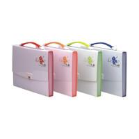 韩风系列事务包 DC4032风琴包 收纳包 13层彩色 文件袋 横款 颜色随机