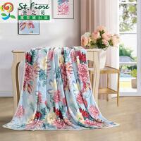 富安娜家纺圣之花法兰绒毛毯办公室空调午睡毯学生垫床毯子