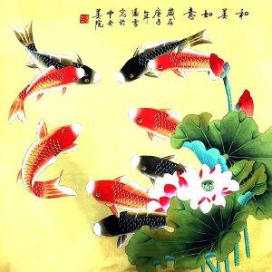 北京市美术家协会会员,北京市著名工笔画画家凌雪(和美如意)