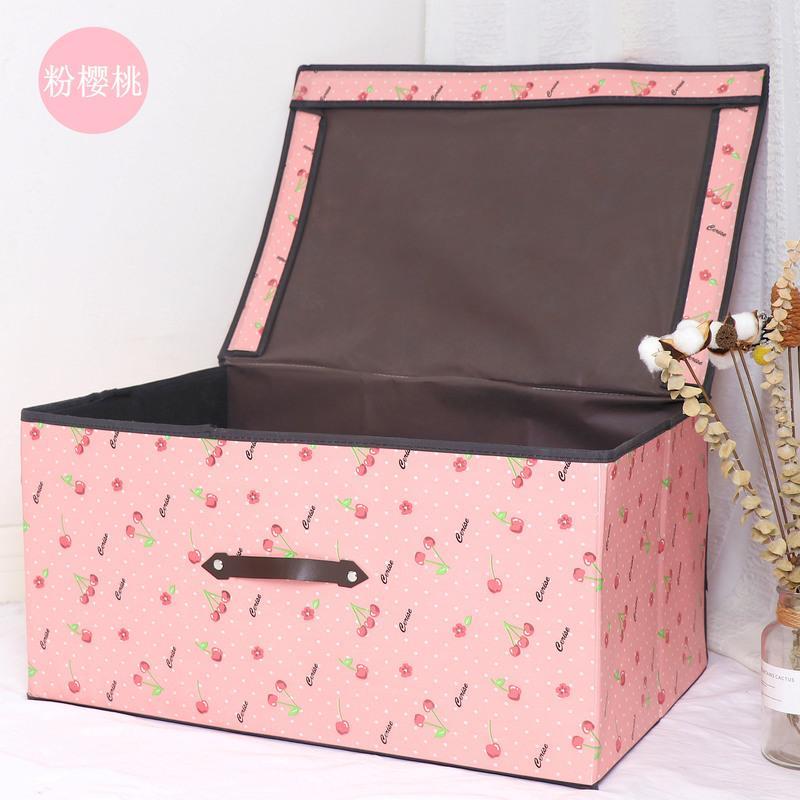 收纳箱布艺有盖折叠储物箱大号衣服整理箱儿童玩具无纺布收纳箱