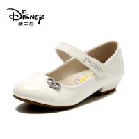 【达芙妮年货节】迪士尼 春女童单鞋中童鞋女孩皮鞋公主鞋