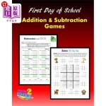 【中商海外直订】First Day of School: Addition and Subtraction Games