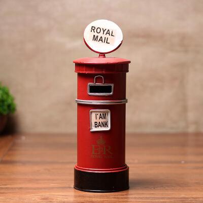 杂货创意家居装饰品摆件英国伦敦铁皮邮筒储蓄罐存钱罐礼品