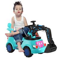 男孩工程学步车充电挖土机儿童电动挖掘机玩具车挖机可坐可骑