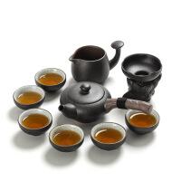 禅意功夫茶具套装家用简约现代客厅办公日式茶壶茶杯套装干泡陶瓷