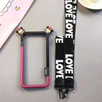 散热边框iphone7手机壳苹果6plus硅胶保护框6s简约防摔卡通8X包边 6/6s4.7寸米妮边框