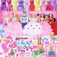 小女孩喜欢的洋娃娃 洋梦芭比洋娃娃套装女孩公主大礼盒换装婚纱超大儿童玩具梦想豪宅 音乐+眨眼+灯光+12关节+298