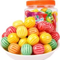 【包邮】西瓜泡泡糖460g/约185颗 桶装果味口香糖80后怀旧糖果休闲零食