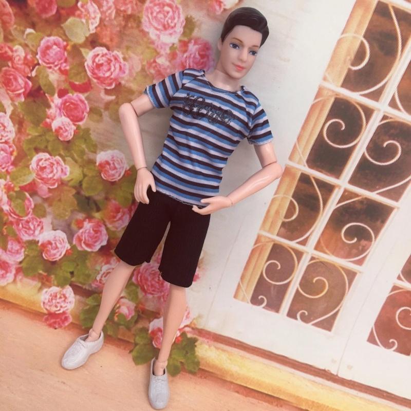 芭比娃娃男朋友 玩具芭比娃娃男朋友巴比男生版14关节男娃娃衣服王子鞋子单个
