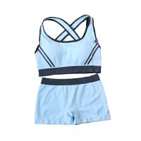 运动内衣女防震跑步背心式套装 无钢圈胸罩薄款少女内衣瑜伽美背