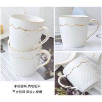 欧式水杯套装家用陶瓷杯子简约现代水壶创意客厅杯具6只装带托盘 图片色