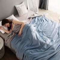 双层毛毯珊瑚绒盖毯子加厚法兰绒被子冬季保暖双人单人宿舍薄床单