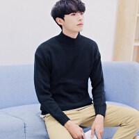 毛衣男韩版半高领新款潮流学生针织衫 宽松休闲秋冬季外套