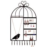 挂项链饰品的架子 创意耳环耳钉首饰架可挂壁式鸟笼展示收纳架家用