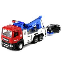 合金车模工程车道路清障车拖车高速公路救援车玩具车模型