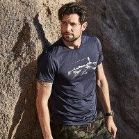 【过年不打烊】诺诗兰新款男士吸湿排汗快干短袖T恤GQ085A05