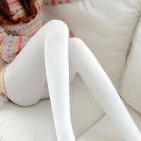 白色打底裤女外穿高腰连裤袜跳子学生春秋冬季加绒加厚