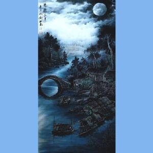 现为越世阁画院院长,中国艺术学会会员,艺宝在线特聘画家易剑赋(阳春三月)