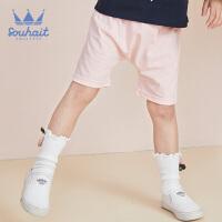 【3件3折:41.7元】souhait水孩儿童装夏季新款儿童可爱印花短裤小童针织短裤SHNXNX14CE518