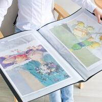 a3文件夹奖状收集册 a2/4k资料册装画画的海报夹 8k画册夹收纳册素描收藏夹画夹儿童美术作品集收集整理册