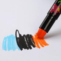 美乐蜡笔彩色宝宝油画棒儿童可水洗旋转涂鸦笔安全幼儿不脏手毒无