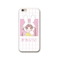 iphone6s手机套粉嫩可爱少女苹果8手机壳硅胶7plus防摔软壳保护套