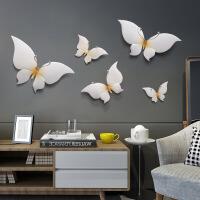 创意蝴蝶立体浮雕墙贴壁饰壁挂现代墙上装饰品沙发电视背景墙挂件 蝴蝶墙饰