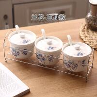 陶瓷调味罐家用套装调味盒调味瓶组合装盐罐调料盒三件套厨房