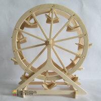 3d木质木制成人立体拼图玩具儿童拼图益智女孩手工DIY摩天轮模型