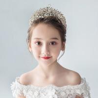 小女孩生日金色发饰儿童皇冠头饰公主女童王冠大发箍