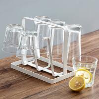 ��意杯子收�{架杯子架家用放玻璃茶杯的置物架