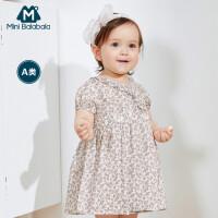 迷你巴拉巴拉婴儿连衣裙2020夏季女宝宝甜美荷叶边碎花裙子