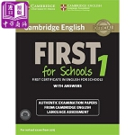 【中商原版】剑桥FCE考试校园版1 真题集:学生书(含答案和音频)英文原版 Cambridge English Fir
