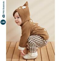 【限时1件6折 2件5折】迷你巴拉巴拉婴儿针织衫男宝宝连帽毛衣2019冬装新款儿童可爱毛衫