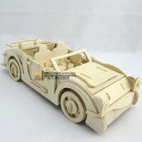 木质3d立体拼图模型儿童益智力玩具积木6-8-10岁以上男孩木制汽车