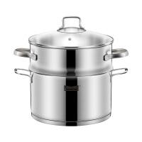 304不锈钢1层小蒸锅 家用汤锅单层蒸笼22cm炉灶通用