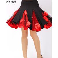 广场舞裙子半身裙舞蹈裙跳舞的短裙中老年交谊舞大摆裙女舞裙
