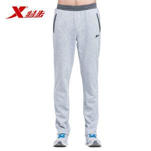 特步运动裤男休闲棉针织长裤透气舒适修身宽松跑步裤