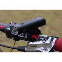 夜骑自行车灯骑行手电筒强光车前灯USB充电山地装备配件