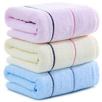 三利 纯棉大浴巾1条 柔软舒适吸水洗澡巾 全棉彩缎男女同款成人裹身巾