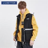 2.5折价:231;Lilbetter羽绒服男冬季夹克背心短款2019新款男装韩版工装服羽绒