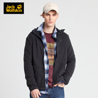 Jack Wolfskin/狼爪男装新款户外休闲防风保暖舒适运动连帽抓绒夹克外套1707971-6000
