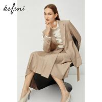 伊芙丽西装外套女2020新款春装休闲女士西服上衣职业一粒扣小西装