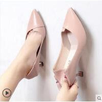 高跟鞋女细跟百搭潮款韩版尖头性感猫跟单鞋女职业女鞋
