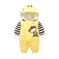 婴儿衣服冬季连体衣厚款保暖棉初生3个月秋冬宝宝外出抱衣