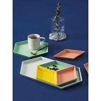 北欧几何创意多边形果篮 桌面棱形组合首饰盘家用塑料果盘