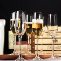 水晶玻璃香槟杯起泡酒杯结婚对杯高脚杯6只套装 6只装/160ML笛形香槟杯