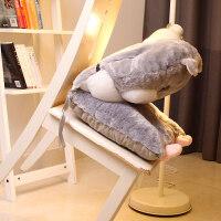 屁股垫坐垫 可爱仓鼠办公室大学生坐垫带靠垫一体椅子靠背屁股座椅垫寝室通用 防滑版